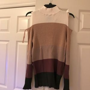 Chico's open shoulder sweater...size 3
